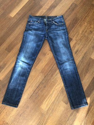 7 For All Mankind Jeans vita bassa blu scuro