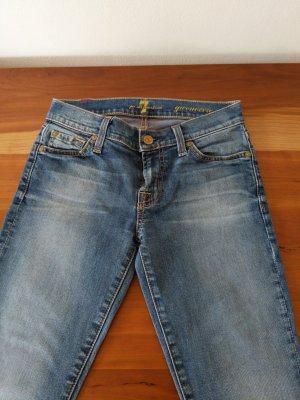 7 For All Mankind Jeans skinny gris ardoise
