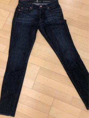 7 For All Mankind Dopasowane jeansy ciemnoniebieski