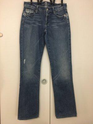 7 For All Mankind Jeansy z prostymi nogawkami stalowy niebieski-szary niebieski