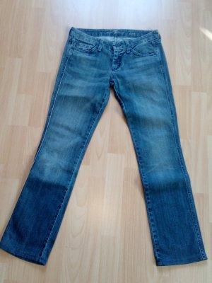 7 For All Mankind Jeans a gamba dritta blu acciaio-blu Cotone
