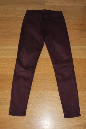 7 For All Mankind Pantalon bordeau
