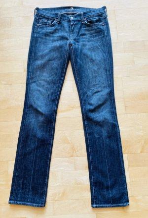 7 For All Mankind Jeans a gamba dritta blu scuro Cotone