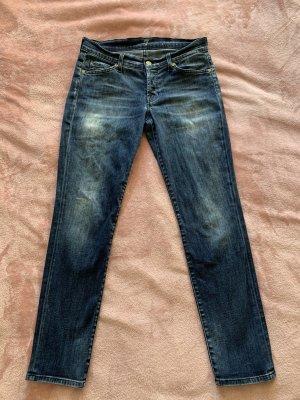 7 For All Mankind Dopasowane jeansy niebieski
