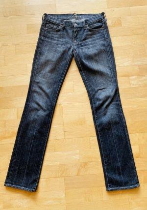 7 For All Mankind Jeans a gamba dritta antracite-nero
