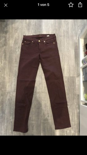 7 For All Mankind Low Rise Jeans bordeaux