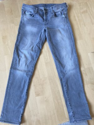 7 For All Mankind Jeans skinny grigio chiaro