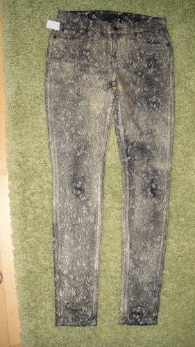7 for all mankind Jeans Gr.26 =36, gold schimmernd, wie Brokat, Röhrenschnitt
