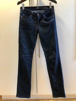 7 For All Mankind Jeans met rechte pijpen donkerblauw Katoen