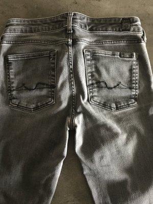 7 For All Mankind Jeans skinny grigio Cotone