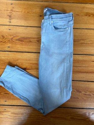 7 For All Mankind Jeansy o obcisłym kroju jasnoniebieski