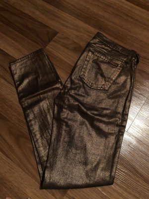7 for all mankind jeans hose metallic