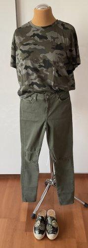 7 For All Mankind Skinny jeans groen-grijs