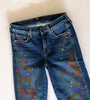 7 For All Mankind Jeans a sigaretta multicolore Cotone