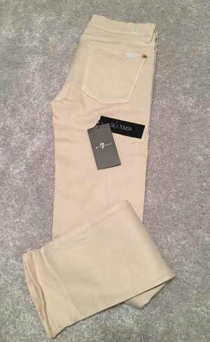 7 For All Mankind Jeans Roxanne skinny silk touch Gr. 28 creme