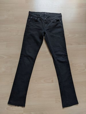 7 For All Mankind Straight Leg Jeans black