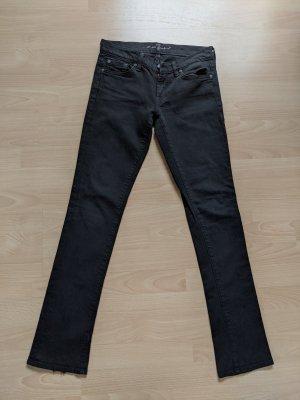 7 For All Mankind Jeansy z prostymi nogawkami czarny