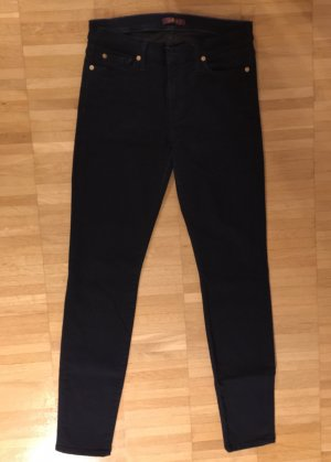 7 For All Mankind Jeans, schwarz, Skinny Fit, Mid Waist, W28
