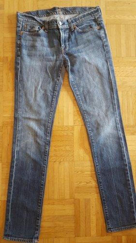 7 For All Mankind Skinny jeans blauw-azuur Katoen