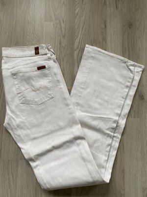 7 For All Mankind Jeans bootcut blanc