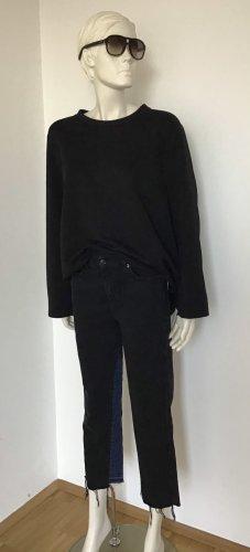 7 For All Mankind Hoge taille jeans zwart-donkerblauw Katoen