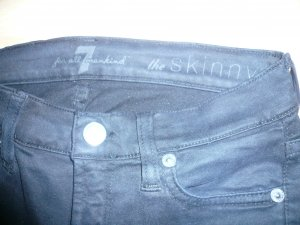 7 For All Mankind Pantalone a vita bassa nero