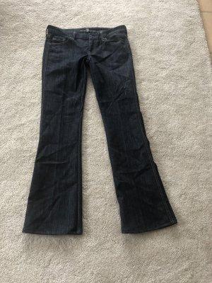 7 For All Mankind Pantalone a zampa d'elefante blu scuro