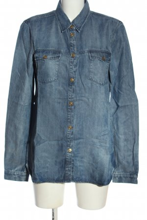 7 For All Mankind Spijkershirt blauw casual uitstraling