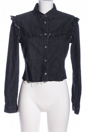 7 For All Mankind Camisa vaquera negro look casual