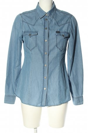7 For All Mankind Jeanshemd blau Casual-Look