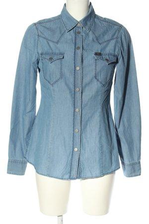 7 For All Mankind Jeansowa koszula niebieski W stylu casual
