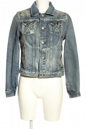 7 For All Mankind Jeansjacke blau Casual-Look