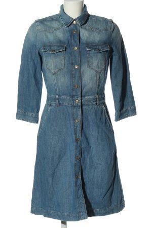 7 For All Mankind Robe en jean bleu style décontracté