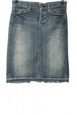 7 For All Mankind Jeansrock blau Casual-Look