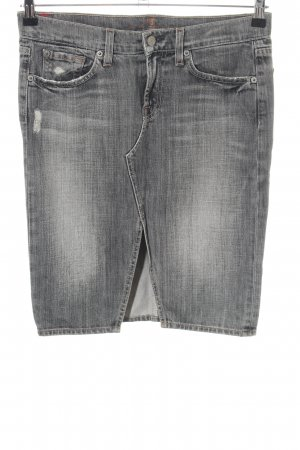 7 For All Mankind Jeansrock hellgrau Casual-Look