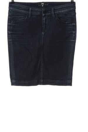 7 For All Mankind Jupe en jeans bleu style décontracté