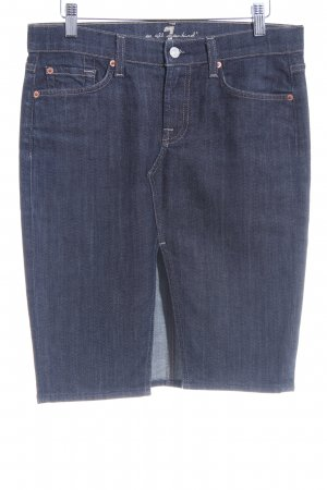 7 For All Mankind Jeansrock dunkelblau Casual-Look