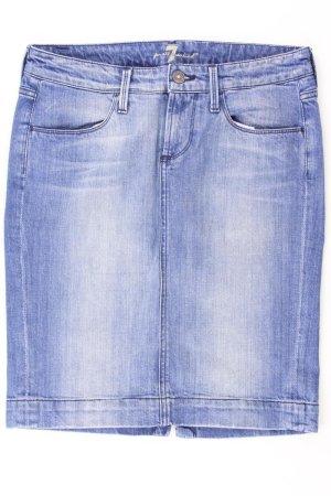 7 For All Mankind Gonna di jeans blu-blu neon-blu scuro-azzurro Cotone