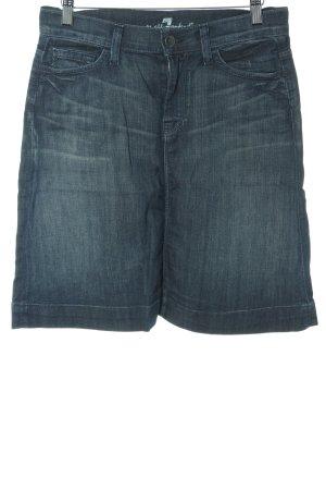 7 For All Mankind Jeansrock stahlblau Farbverlauf Textil-Applikation