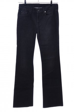 7 For All Mankind Jeansschlaghose schwarz Casual-Look