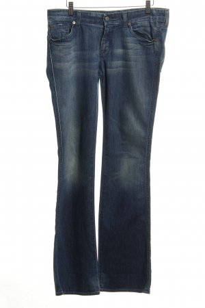 7 For All Mankind Jeansschlaghose blau Business-Look