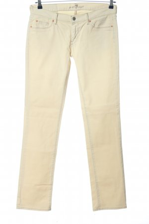 7 For All Mankind Jeansschlaghose creme Casual-Look
