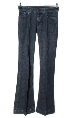 7 For All Mankind Jeans a zampa d'elefante blu puntinato stile casual