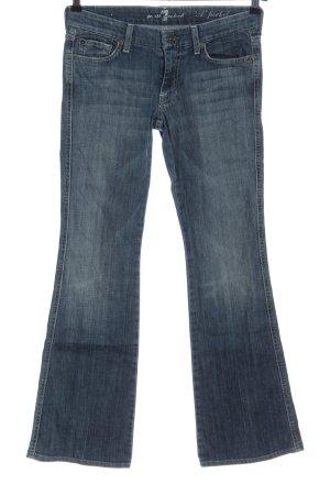 7 For All Mankind Jeans a zampa d'elefante blu stile casual