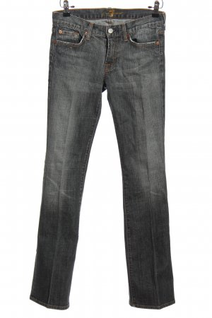 7 For All Mankind Jeansschlaghose hellgrau Casual-Look