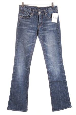 7 For All Mankind Jeansschlaghose blau Logo-Applikation