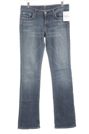 7 For All Mankind Jeansschlaghose blau Farbverlauf Casual-Look