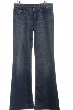 7 For All Mankind Jeansschlaghose blau Washed-Optik