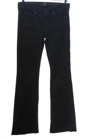 7 For All Mankind Jeansowe spodnie dzwony czarny W stylu casual