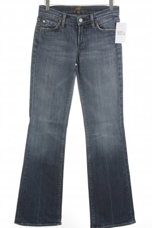 7 For All Mankind Jeansschlaghose dunkelblau Casual-Look